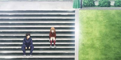 Naho & Kakeru sitting together