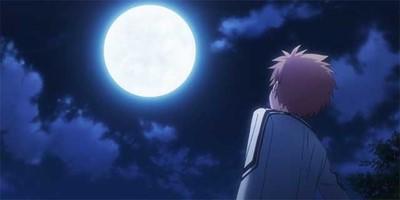 Kotaru looking at moon