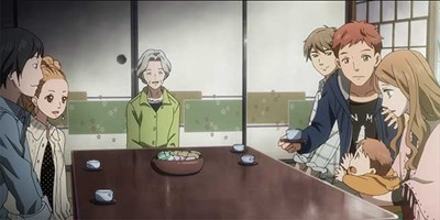 Naho & friends meets with Kakeru's grandmother