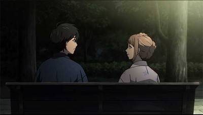 Naho & Kakeru sit together
