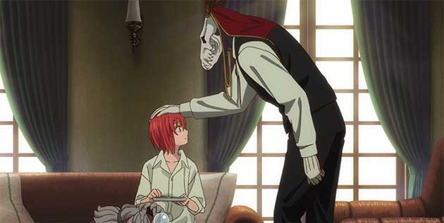 Ainsworth patting Chise's head.