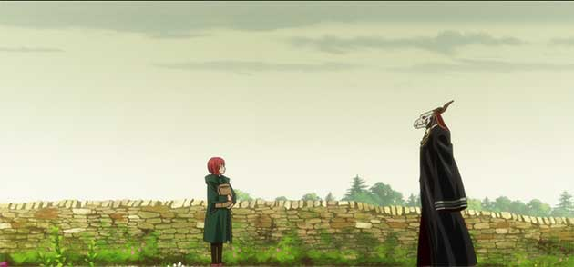 Chise & Ainsworth talk while walking
