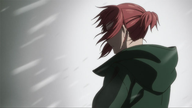 Chise in blizzard.