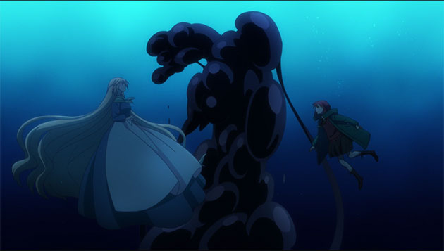 Chise meets a strange person underwater.