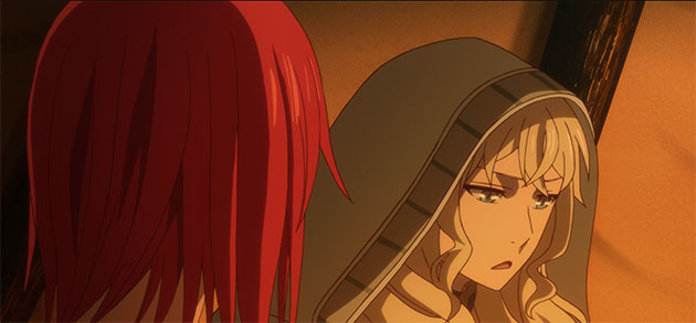 Lindel talking to Chise.