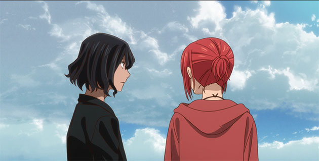 Chise and Ruth talk while looking at scenery.