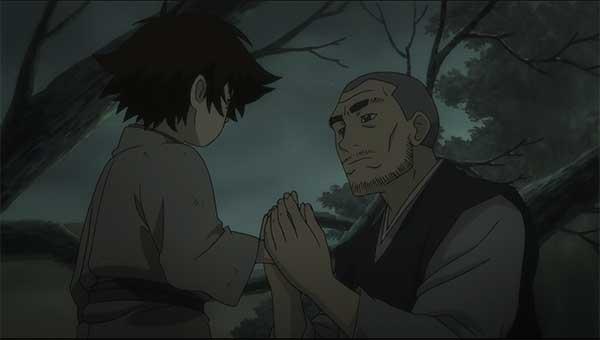 Monk talks to Kotaro