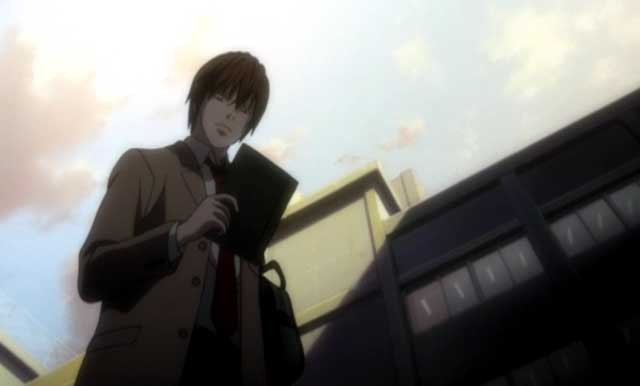 Light Yagami finds the death note