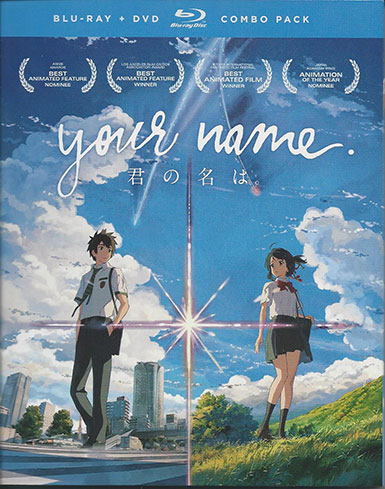 Your Name Blu Ray cover